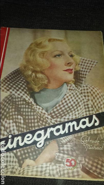 REVISTA CINEGRAMAS AÑO II NÚMERO 65 8 DICIEMBRE 1935 GETRUDE MICHEL (Cine - Revistas - Cinegramas)