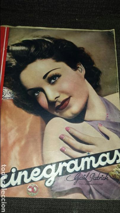 REVISTA CINEGRAMAS AÑO III NÚMERO 95 5 DE JULIO 1936 GAIL PATRICK (Cine - Revistas - Cinegramas)
