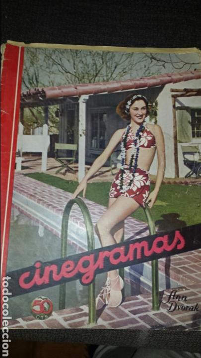 REVISTA CINEGRAMAS AÑO II NÚMERO 46 28 JULIO 1935 ANN DVORAK (Cine - Revistas - Cinegramas)