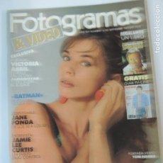 Cine: FOTOGRAMAS Nº 1755 SEPT 1989 - VICTORIA ABRIL (PORT) JAMIE LEE CURTIS JANE FONDA LAURENCE OLIVIER. Lote 76694555