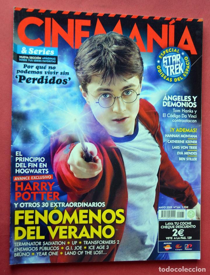CINEMANIA & SERIES - MAYO 2009 - Nº 164 - HARRY POTTER - ANGELES Y DEMONIOS - PERDIDOS (Cine - Revistas - Cinemanía)