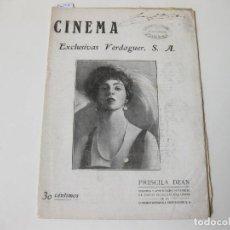 Cinema: REVISTA DE CINE CINEMA. AÑO IV NÚMERO 4 Y 5 DE MAYO-JUNIO DE 1921. EXCLUSIVAS VERDAGUER. Lote 76936629