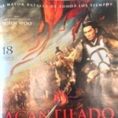 Cine: REPRODUCCIÓN DE POSTER DE 'ACANTILADO ROJO', DE JOHN WOO. PÁGINA DE REVISTA, ENMARCABLE.. Lote 77404361