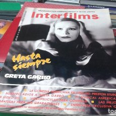 Cine: REVISTA INTERFILMS,NUMERO 21,MAYO 1990 GRETA GARBO. Lote 77800081