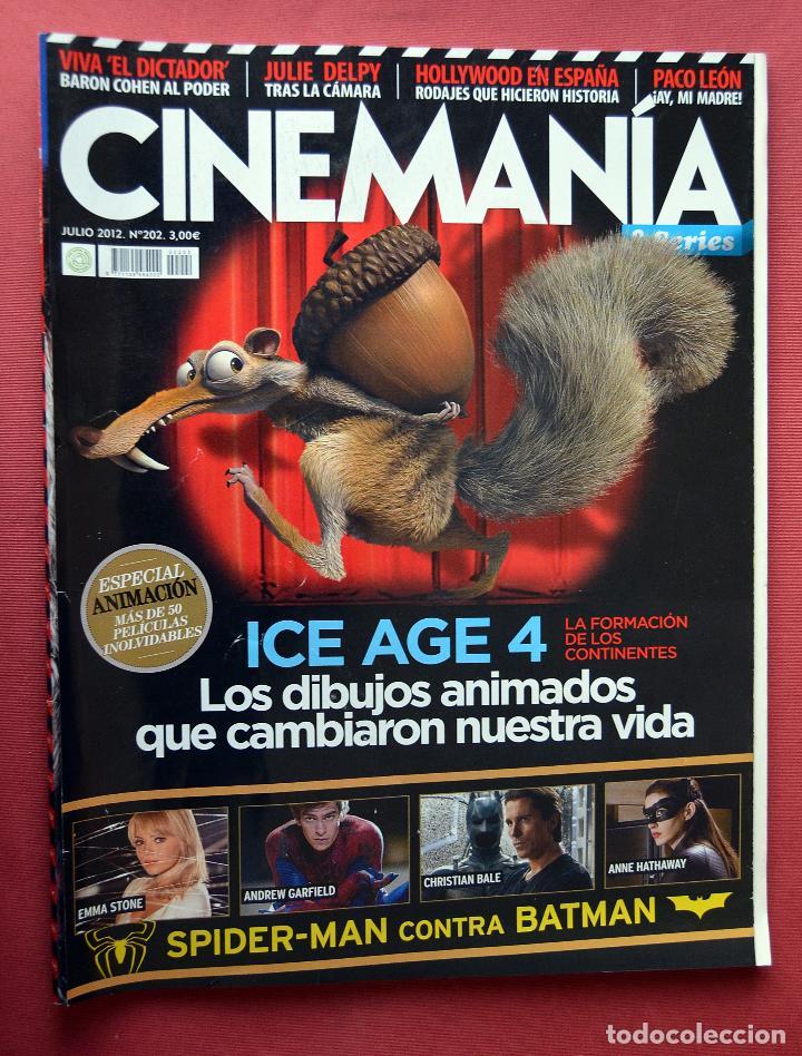 CINEMANIA & SERIES - JULIO 2012 - Nº 202 - ICE AGE 4 - SPIDERMAN CONTRA BATMAN (Cine - Revistas - Cinemanía)