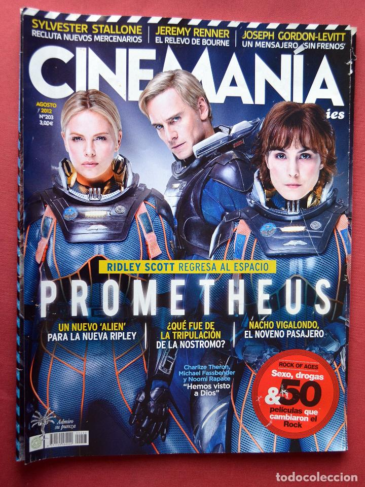 CINEMANIA & SERIES - AGOSTO 2012 - Nº 203 - PROMETHEUS (Cine - Revistas - Cinemanía)