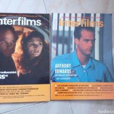 Cine: INTERFILMS. 12 Y 20. MUY BUEN ESTADO. EL 20 CON FICHAS DE ACTORES.. Lote 77878389
