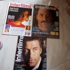 Cine: INTERFILMS. LOTE DE 3. 72,83 Y 93. MUY BUEN ESTADO.. Lote 77878946