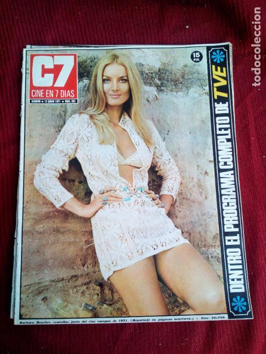 REVISTA CINE EN 7 DIAS Nº531 1971 BARBARA BOUCHET-KARIN DOR-MICHELE MORGAN (Cine - Revistas - Cine en 7 dias)