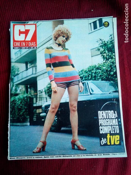 REVISTA CINE EN 7 DIAS Nº530 1971 MINNIE MINOPRIO-VALERIE LEON-JENNY RUSELL (Cine - Revistas - Cine en 7 dias)