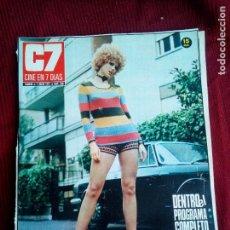 Cine: REVISTA CINE EN 7 DIAS Nº530 1971 MINNIE MINOPRIO-VALERIE LEON-JENNY RUSELL. Lote 79667785