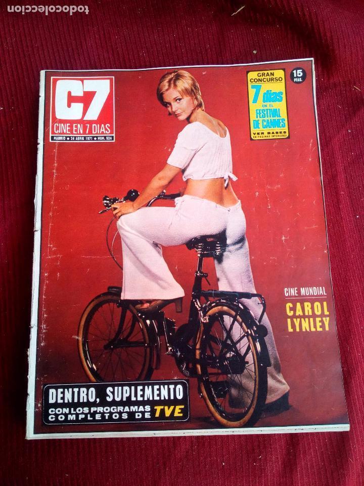 REVISTA CINE EN 7 DIAS Nº524 1971 CAROL LYNLEY-DEBBIE REYNOLDS-BRIGITTEBARDOT-GARY COOPER (Cine - Revistas - Cine en 7 dias)