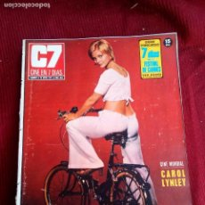 Cine: REVISTA CINE EN 7 DIAS Nº524 1971 CAROL LYNLEY-DEBBIE REYNOLDS-BRIGITTEBARDOT-GARY COOPER. Lote 79668937