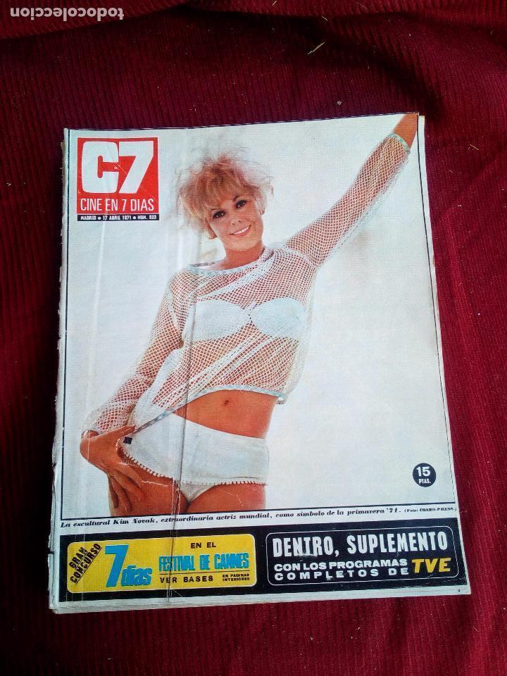 REVISTA CINE EN 7 DIAS Nº523 1971 KIM NOVAK-JULIE CHISTIE-CATHERINE DENEUVE-FLORINDA BOLKAN (Cine - Revistas - Cine en 7 dias)