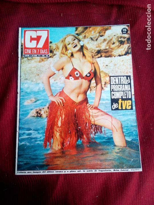 REVISTA CINE EN 7 DIAS Nº548 1971 BEBA LONCAR-LEE REMICK-CURDJURGENS- (Cine - Revistas - Cine en 7 dias)
