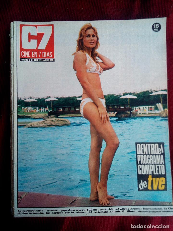 CINE EN 7 DIAS Nº538 1971 BISERA VUKOTIE-GRACIELLA BORGES-BAMBU KELLUM-MYLENE DEMONGEOT (Cine - Revistas - Cine en 7 dias)