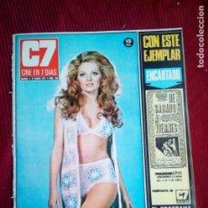 Cine: CINE EN 7 DIAS Nº520 1971 JULIE EGE-MARIA LAFORET-MISS INDIANA PAREJA ELVIS-BARBARA ANDERSON . Lote 79771305