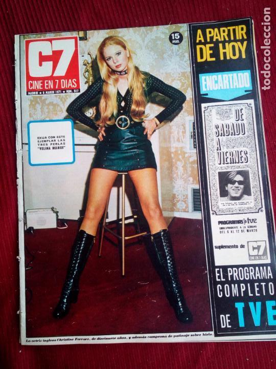 CINE EN 7 DIAS Nº517 1971 CHRISTINE FERRARE-GINA LOLOBRIGIDA-FLORINDA BOLKAN- MARILYN MONROE (3) (Cine - Revistas - Cine en 7 dias)
