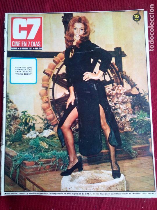 CINE EN 7 DIAS Nº513 1971 MIRTA MILLER-CHRISTINE DONNA-JEANNE MOREAU-IRENE GUTIERREZ CABA (Cine - Revistas - Cine en 7 dias)