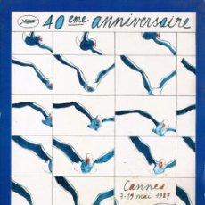 Cine: CANNES 1987 CATALOGO OFICIAL 40 AÑOS. Lote 79855281
