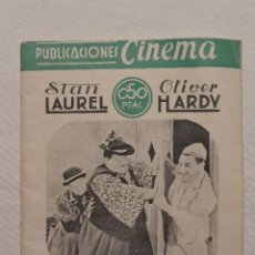 Cine: PUBLICACIONES CINEMA EN QUESOS BESOS. Nº 41. GORDO Y EL FLACO. Lote 79927081