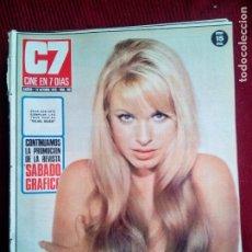 Cine: CINE EN 7 DIAS Nº496 INGRID GARBO- EMMA COHEN-MOIRAA FOOT-SYLVA KOSCINA 1971. Lote 79930497