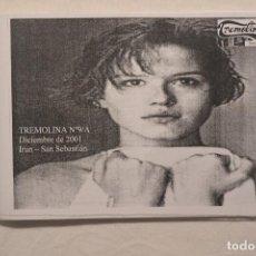 Cine: FANZINE TREMOLINA Nº9/A DICIEMBRE DE 2001IRUN-SAN SEBASTIAN. Lote 79995549