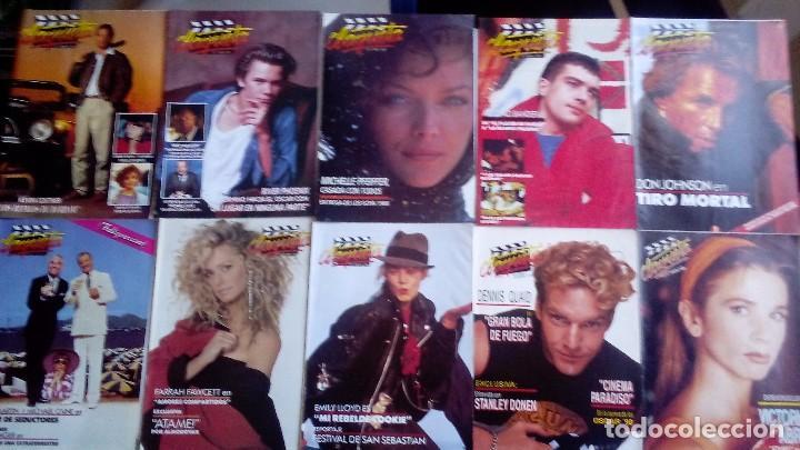 CLAQUETA LOTE DE 10 REVISTAS (DEL 0 AL 9) 1989. MUY BUEN ESTADO. VER FOTOGRAFÍAS. (Cine - Revistas - Claqueta)
