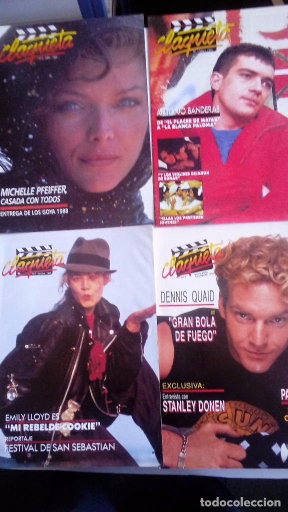 Cine: CLAQUETA LOTE DE 10 REVISTAS (DEL 0 AL 9) 1989. MUY BUEN ESTADO. VER FOTOGRAFÍAS. - Foto 2 - 80103941