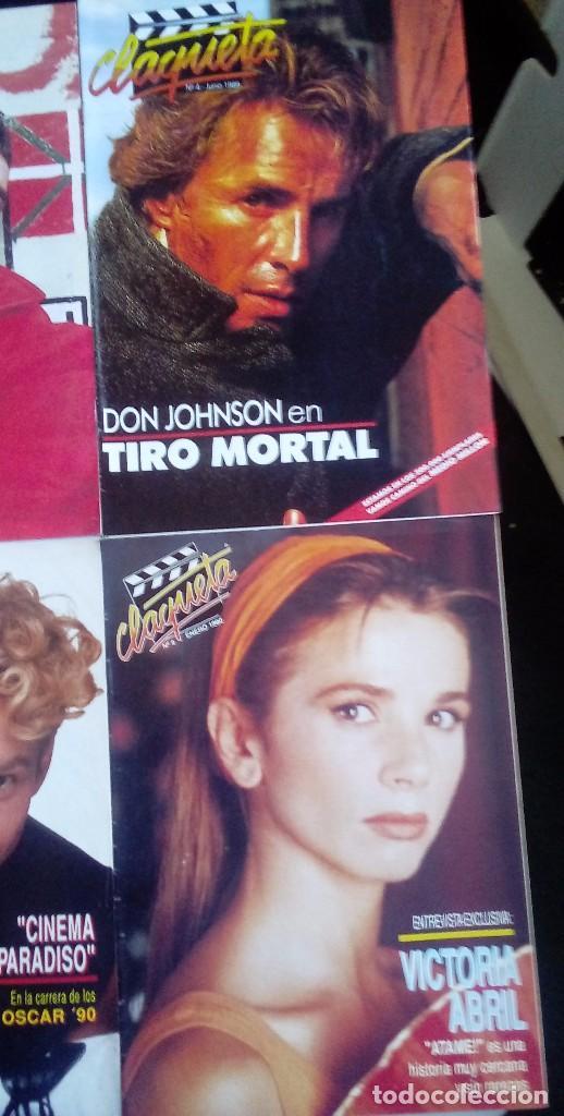 Cine: CLAQUETA LOTE DE 10 REVISTAS (DEL 0 AL 9) 1989. MUY BUEN ESTADO. VER FOTOGRAFÍAS. - Foto 3 - 80103941