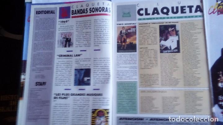 Cine: CLAQUETA LOTE DE 10 REVISTAS (DEL 0 AL 9) 1989. MUY BUEN ESTADO. VER FOTOGRAFÍAS. - Foto 4 - 80103941