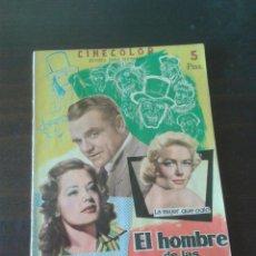 Cine: REVISTA CINECOLOR EL HOMBRE DE LAS MIL CARAS (1958). Lote 80612002