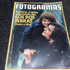 Cine: FOTOGRAMAS Nº 1320 AÑO 1974 - SERRAT - RICHARD WIDMARK - LLUIS LLACH. Lote 81003632