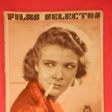 Cine: FILMS SELECTOS Nº 45, 22 DE AGOSTO DE 1931,ELISA LANDI, 28 PÁGINAS. Lote 81124304