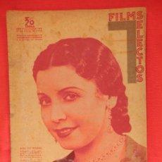 Cine: FILMS SELECTOS Nº 283, 21 DE MARZO DE 1936, ELISA RUIZ ROMERO, CURRITO DE LA CRUZ, 28 PÁGINAS. Lote 81125000