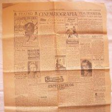 Cine: HOJA SOLIDARIDAD NACIONAL.CARTELERA, CRÍTICA CUATRO MUJERES, VIDAS SANGRIENTAS, 12-12-1947 BARCELONA. Lote 81639096