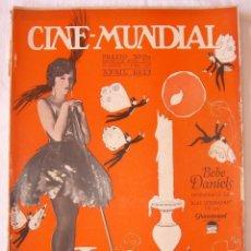 Cine: REVISTA CINE MUNDIAL,ABRIL 1923, TOMO VIII Nº 4 EDITADA POR CHALMERS PUBLISHING COMPANY, NUEVA YORK. Lote 81747096