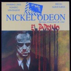 Cine: NICKEL ODEÓN. REVISTA TRIMESTRAL DE CINE. Nº 29: EL PADRINO - MARÍAS, MIGUEL / CORMAN, ROGER / MCBRI. Lote 81879479