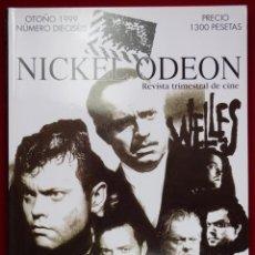 Cine: NICKEL ODEÓN. REVISTA TRIMESTRAL DE CINE. Nº 16 (MONOGRÁFICO ORSON WELLES) - COBOS, JUAN / ERICE, VÍ. Lote 125306430