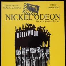 Cine: NICKEL ODEÓN. REVISTA TRIMESTRAL DE CINE. Nº 22. MCCARTHY Y LA INQUISICIÓN EN EL CINE (HOLLYWOOD: LA. Lote 206125991