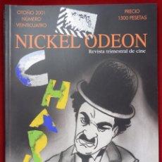 Cine: NICKEL ODEÓN. REVISTA TRIMESTRAL DE CINE. Nº 24 (MONOGRÁFICO CHARLES CHAPLIN) - VV.AA.. Lote 81879519