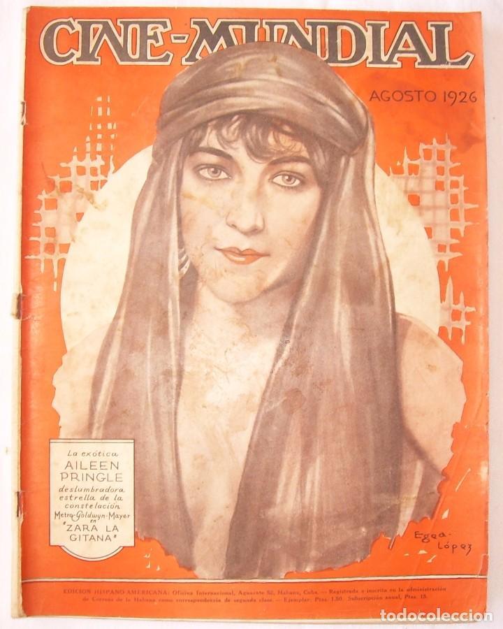REVISTA CINE MUNDIAL,AGOSTO 1926, VOL.XI Nº 8 EDITADA POR CHALMERS PUBLISHING COMPANY, NUEVA YORK (Cine - Revistas - Cine Mundial)