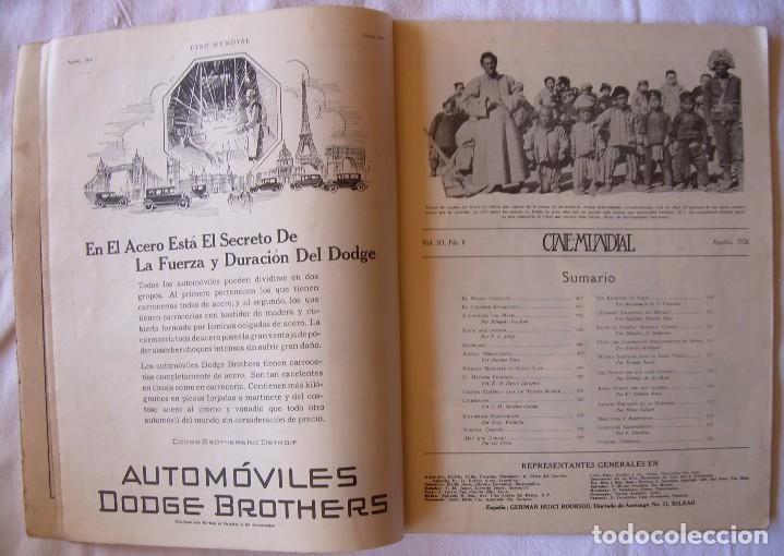 Cine: REVISTA CINE MUNDIAL,AGOSTO 1926, VOL.XI Nº 8 EDITADA POR Chalmers Publishing Company, Nueva York - Foto 3 - 81885644