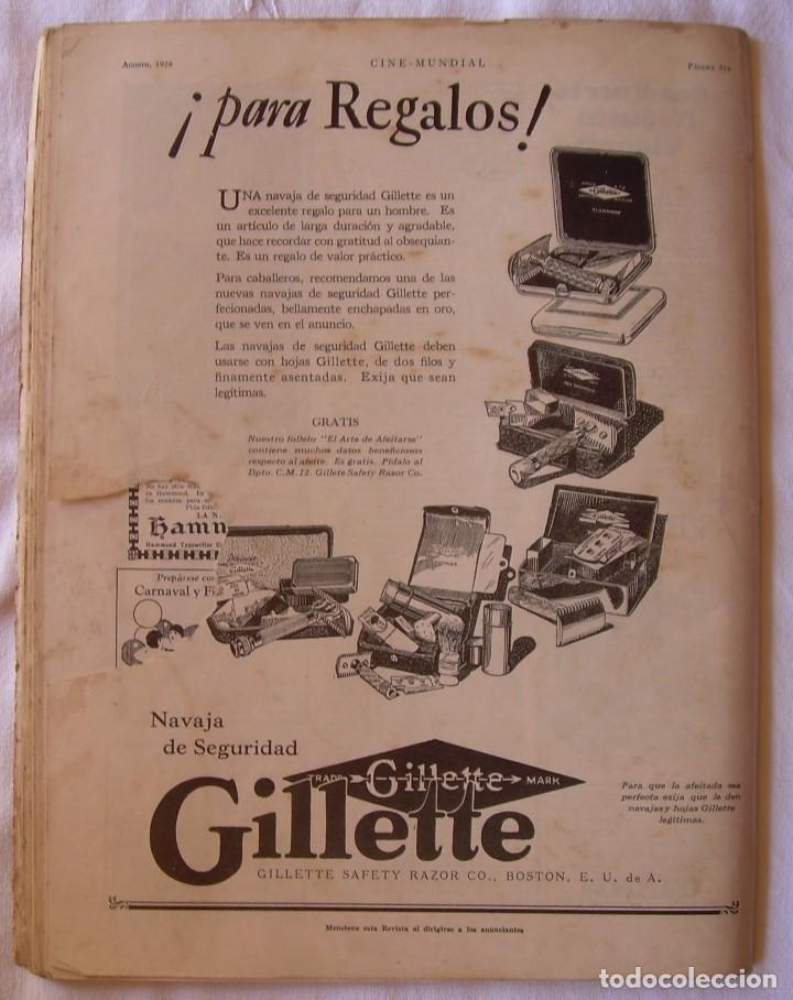 Cine: REVISTA CINE MUNDIAL,AGOSTO 1926, VOL.XI Nº 8 EDITADA POR Chalmers Publishing Company, Nueva York - Foto 11 - 81885644