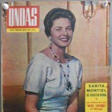 Cine: XR74 SARA MONTIEL REVISTA ESPAÑOLA ONDAS MAYO 1964. Lote 81929580
