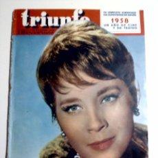 Cine: REVISTA TRIUNFO N°676 -29ENERO DE 1959 ° MARILYN MONROE,SARA MONTIEL,LOLA FLORES. Lote 82851020