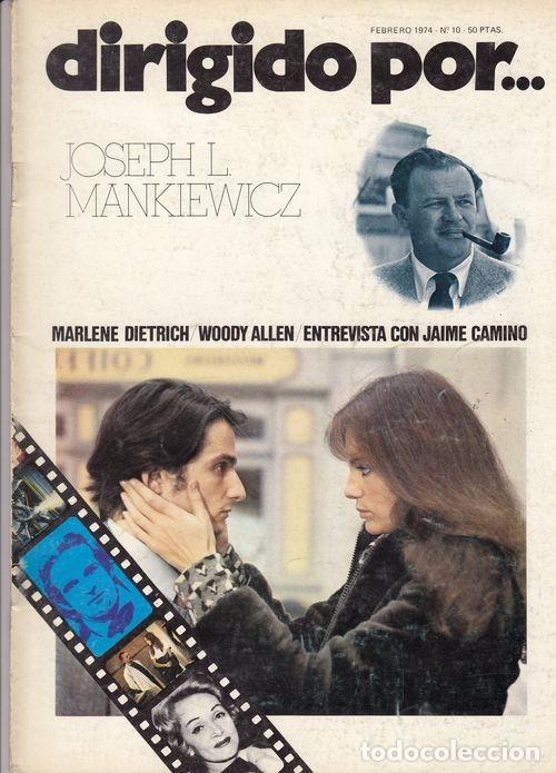DIRIGIDO POR Nº 10 REVISTA CINEMATOGRAFICA - DE CINE JOSEPH L. MANKIEWICZ (Cine - Revistas - Dirigido por)