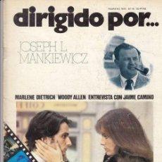 Cinema - DIRIGIDO POR Nº 10 REVISTA CINEMATOGRAFICA - DE CINE JOSEPH L. MANKIEWICZ - 82876892