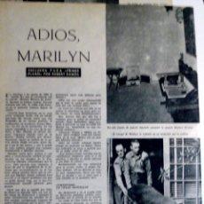 Cine: PRIMER PLANO N° 1141 24/08/1962 ¡ REPORTAJE MUERTE Y ENTIERRO DE MARILYN MONROE MUY RARA !!. Lote 83177644
