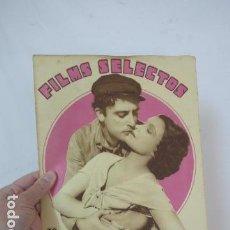 Cine: ANTIGUA REVISTA FILMS SELECTOS DE 1931, ORIGINAL, DE CINE. . Lote 83341636